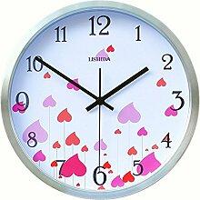 DIDADI Wall Clock Stilvolles Wohnzimmer Wanduhr Quarzuhr garten Wanduhr 12 Schlafzimmer in der kreativen Wand Uhr stumm