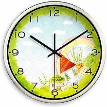 DIDADI Wall Clock Stumm hinter dem Wohnzimmer kreative Mode blumen Wanduhr Time Clock 12 Zoll