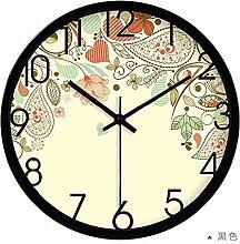 DIDADI Wall Clock Stumm Kunst kreative Uhr abstrakte Malerei den Wohnzimmertisch Uhr Uhr 12 Zoll