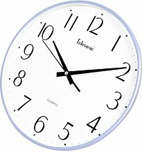 DIDADI Wall Clock Stumm Schaltet das Schlafzimmer Wohnzimmer Wanduhr 13 cm kreative elektronische Uhr Wanduhr