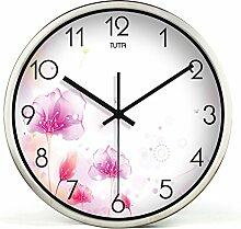 DIDADI Wall Clock Telefon stummschalten - Wohnzimmer creative Flower trendige Wanduhr Time Clock 12 Zoll