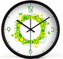 DIDADI Wall Clock Telefon stummschalten - Wohnzimmer kreative trendige Wanduhr Time Wanduhr 12 Zoll