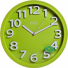 DIDADI Wall Clock Uhr stumm kreative Mode Quarz Wohnzimmer Schlafzimmer Wanduhr 33,7 cm