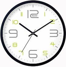 DIDADI Wall Clock Uhr Uhren Wanduhr Zeichnung kreativ stilvolle und einfache mute Wanduhr Quarzuhr 12 Zoll