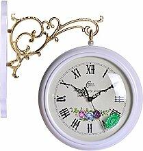 DIDADI Wall Clock Uhrwerk, Stille Design im europäischen Stil Wohnzimmer