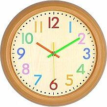 DIDADI Wall Clock Ultra Retro minimalistischen Uhren 13 Zoll home Wohnzimmer Uhr - Holz kreativ Wanduhr