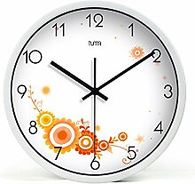 DIDADI Wall Clock (Uranus Telefon stummschalten - Zimmer kreative lebende Wanduhr rund Quarzuhr Schautafel 12 Zoll