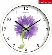 DIDADI Wall Clock Verzierende Ideen, frische Blumen Garten Lounge mute Wanduhr QUARZUHR, 12 Zoll