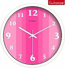 DIDADI Wall Clock Verzierende Ideen Uhr lebendige Farben mute Wohnzimmer Wanduhr Quarzuhr 12 Zoll