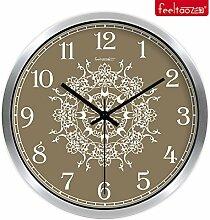 DIDADI Wall Clock Verzierende Ideen Wohnzimmer Schlafzimmer mute Uhren Wanduhr Quarzuhr 12 Zoll