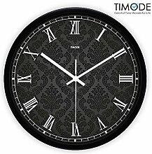 DIDADI Wall Clock Wanduhr Zeichnung Continental mute Kunst Quarzuhr Rom 12 Zoll Spurweite idyllische Wecker