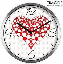 DIDADI Wall Clock Wanduhr Zeichnung Mute Braut kunst Uhr stilvoll kreative Liebe zu 12 Quarzuhr verbringen