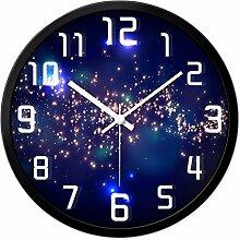 DIDADI Wall Clock Wohnzimmer Wand Uhr kreative Serie Wand Uhr Schlafzimmer Feature Wanduhr 12 Zoll