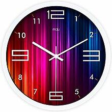 DIDADI Wall Clock Zeit, kreativ modernes Wohnzimmer beeindruckende Wanduhr mute Wanduhr Quarz Uhren 12.