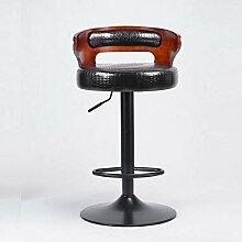 DIDIDD Amerikanische Barstühle Retro-europäischen Stil Barstühle Rezeption Mode ist einfach Hochstuhl Sofa Hocker (Farbe optional),7