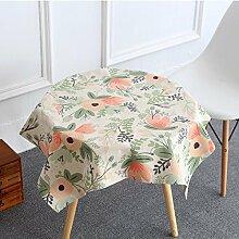 DIDIDD Europäische Leinen Tischdecke Heimtextilien Schrank Tuch Staub Tuch Weihnachtsschmuck,A,110X110cm