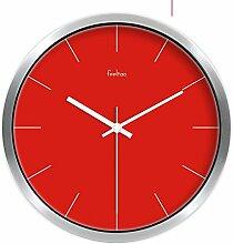 DIDIDD European-Style Wohnzimmer Silent Clock / Creative Home Decoration-Schlafzimmer Wanduhr-U 12Inch,D,10 Zoll