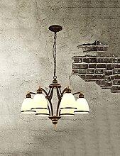 DIDIDD Kronleuchter- Wohnzimmer Restaurant Eisen Kronleuchter moderne einfache Garten kreative Kronleuchter Schlafzimmer Esszimmer Kronleuchter - Innenbeleuchtung Kronleuchter,1-6head