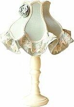 DIDIDD Lampe Schlafzimmer Bett Lampen Continental idyllische Stoffe Lampen Retro-Lampen Spitzen Lampe