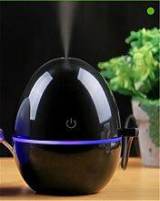 DIDIDD Mini humidifie auto usb kreative stille büro haushalt ei luftbefeuchter ultraschall,Schwarz