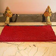 DIDIDD Teppich / Indoor Mat / Schlafzimmer WC Badezimmer Fußmatte / Badematte Absorbent Pad,F,70X140Cm (28X55Inch)
