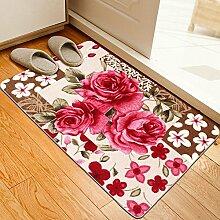 DIDIDD Tür Eingang Matten / Türmatten / Wasserabsorption und Antikidding Mat / Badematte / Küchenmatten / Türmatten / Fußmatte,A,70X140Cm (28X55Inch)