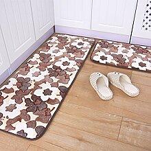 DIDIDD Weiche verdickte Färbe Küche und Toilettenmatten / Fußmatte / Fußauflage / Badezimmer Nonlip Matten,A,40X60Cm (16X24Inch)