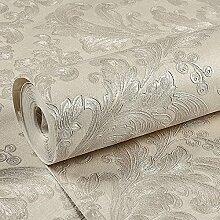 Die 3D-florale Damaskus Vlies Tapete Wohnzimmer Schlafzimmer Tapete Hintergrund geschnitz