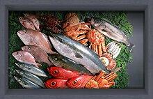 Die Badezimmer WEILON 3D-Schlupf an der Wohnzimmer Flur Küche Esszimmer Badezimmer wasserdicht Anti-skid Meeresfrüchte Muster Boden selbstklebende Sticker 900*580mm 35,4*22,8 in in #025