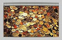 Die Badezimmer WEILON 3D-Schlupf an der Wohnzimmer Flur Küche Esszimmer Badezimmer wasserdicht Anti-skid Mustermünzen Boden selbstklebende Sticker 900*580mm 35,4*22,8 in in #022