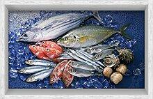 Die Badezimmer WEILON 3D-Schlupf an der Wohnzimmer Flur Küche Esszimmer Badezimmer wasserdicht Anti-skid HD Fisch, selbstklebende Sticker auf dem Boden 900*580mm 35,4*22,8 in in #012