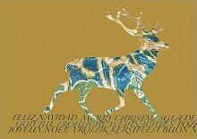 Die besondere Designer Weihnachtskarte mit Hirsch