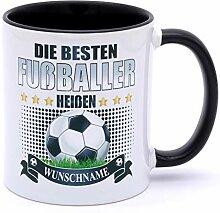Die besten Fußballer heißen Wunschname Tasse