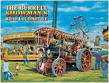Die Burrell showmans Road Lokomotive. Dampf Lokomobile. Für Haus, Kneipe oder cafe aus Metall/Stahl Wandschild, stahl, 30 x 40 cm