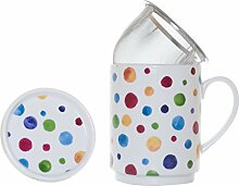 Die Cija Dots–Kräutertee aus Porzellan mit