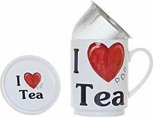 Die Cija I Love Tea-Kräutertee aus Porzellan