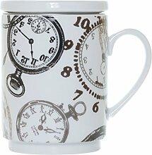 Die Cija Uhren–Kräutertee aus Porzellan mit