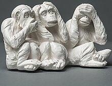 Die drei weisen Affen Skulptur aus hochwertigem