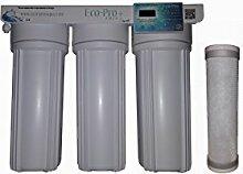 Die eco-pro + 3Stage Silberionen-Wasser Filter Kit, Untertisch-System mit 4Gramm von reinem Silber. 2Sets von Filter Plus Digitaler Timer mit Alert Wenn Zu ersetzen Filter