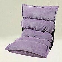 Die Erntezeit Fußboden Sofa-Stuhl Lazy Sofa Faltbare Einzelne Kleine Sofa-Bett Computer Stuhl Rücken ( farbe : 2 )