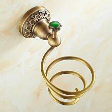 Die Europäischen Golden Diamond Fön Frame Bad Regal Hängen Regal Trockner Hochwertige Luxus In Kupfer - Regal,Emerald