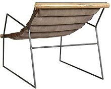 die Faktorei Legends Design-Sessel Echtleder Bezug