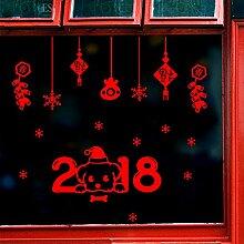 Die Feder Festival Kunst Geschäfte Fenster Glas auf Silvester und Weihnachten Dekoration Aufkleber