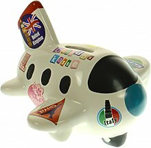 Casablanca Deko Flugzeug aus Keramik