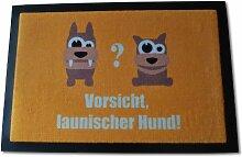 Die Fußmatte - Vorsicht launischer Hund