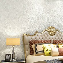 Die geschnitzten 3D foam kontinentales Luxus home Tapete Wohnzimmer TV-Wand Papier Schlafzimmer Hintergrund ,1 von Pearl White