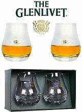 Die Glenlivet Scotch Whisky Nosing-Glas Glas Set