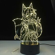 Die hilfreiche Fox Senko San Abbildung 3d Lampe