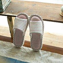 Die Japaner im Frühjahr und Herbst Jahreszeiten in der Paare home Hausschuhe für Männer und Frauen Home - Aufenthalt im Zimmer nicht zu tragen - slip Stock Schlafzimmer, 39-40, blass rosa Baumwolle (unten)