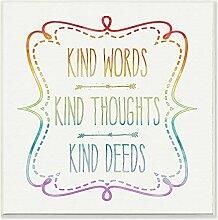 Die Kinder Raum durch Stupell Art Worte Gedanken